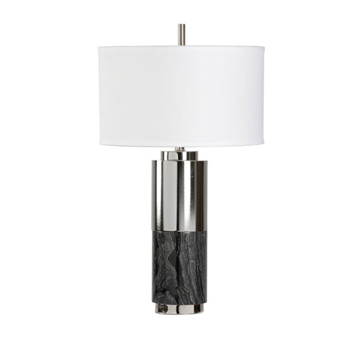White and Black One-Light 5-Inch Westgate Lamp