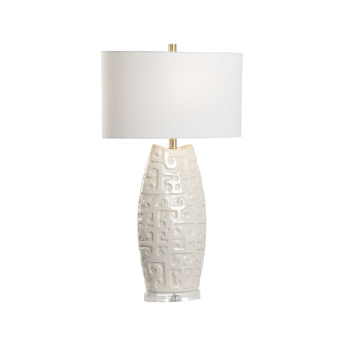 Off White One-Light 8-Inch Hapuna Lamp