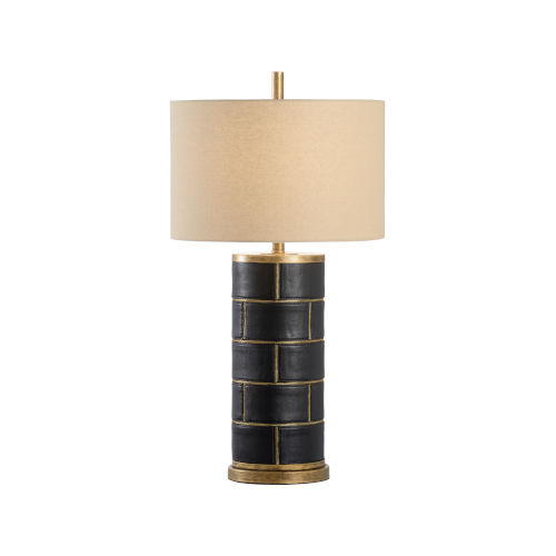Oatmeal and Black One-Light 8-Inch Department 11 Lamp