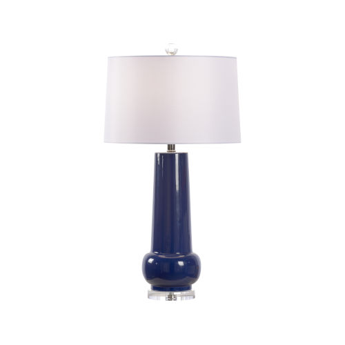 Classic Blue Glaze and White One-Light Table Lamp