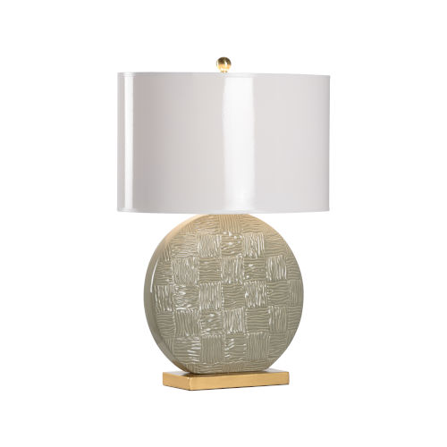 Raintree Green, Gold and White One-Light Table Lamp