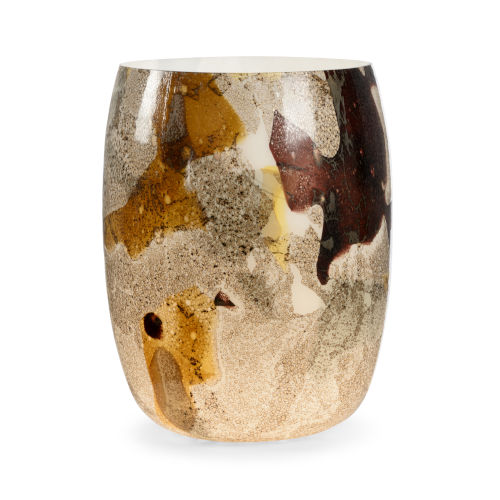 Brown and Cream One-Light On The Rocks Table Lamp
