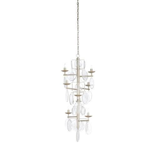 Silver Eight-Light 28-Inch Liza Chandelier