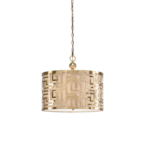 Gold Three-Light 20-Inch Daphne Pendant