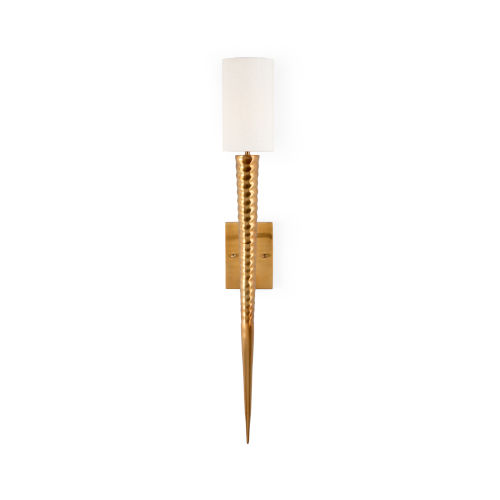Cream and Gold One-Light 5-Inch Laguna Sconce