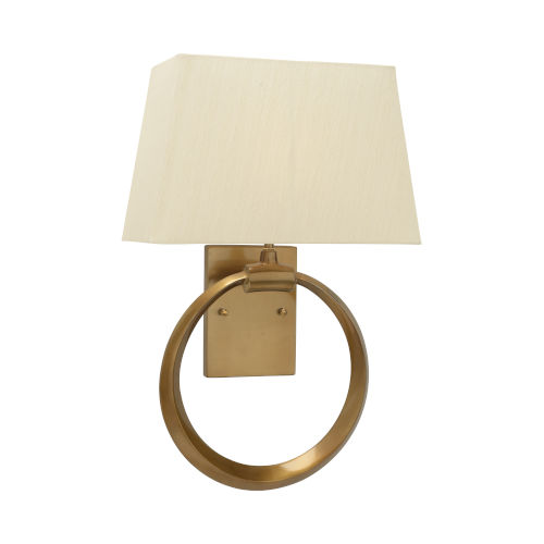 Gold One-Light 12-Inch Ring Sconce