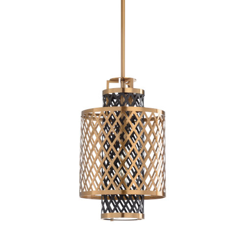 Gold One-Light 12-Inch Sabine Pendent