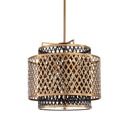 Gold Three-Light 22-Inch Sabine Chandelier