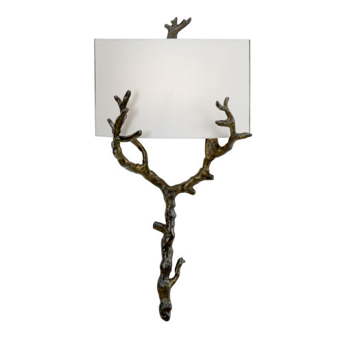 Off White and Black One-Light 13-Inch Arbre Sconce