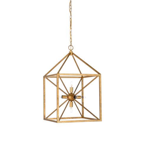 Gold Six-Light 17-Inch Portsmith Chandelier