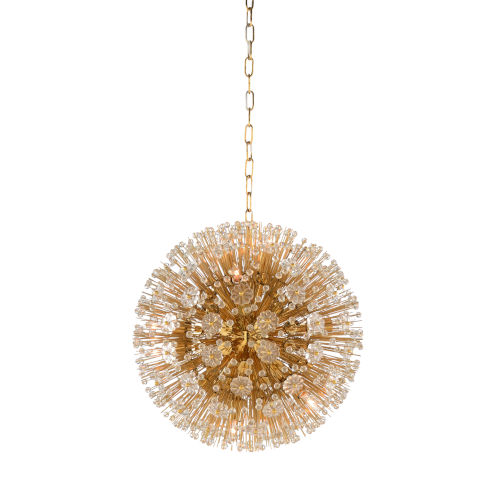 White and Gold 10-Light 20-Inch Lolita Chandelier
