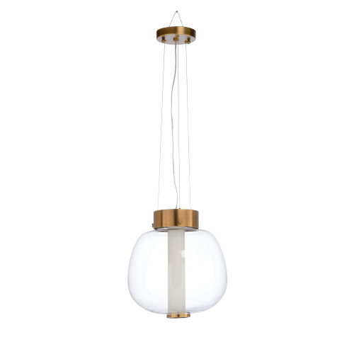 Gold One-Light 13-Inch Brooklyn Pendant
