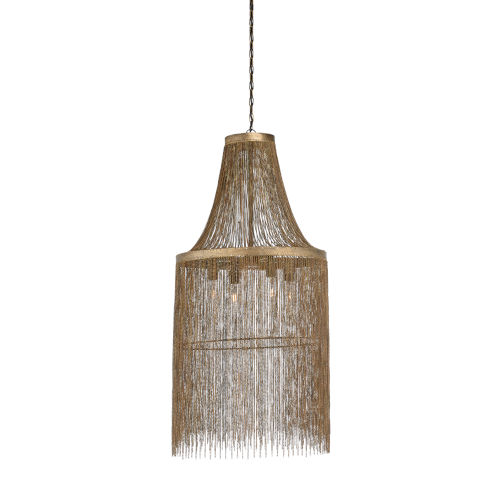 Bronze Four-Light 21-Inch Venetico Chandelier