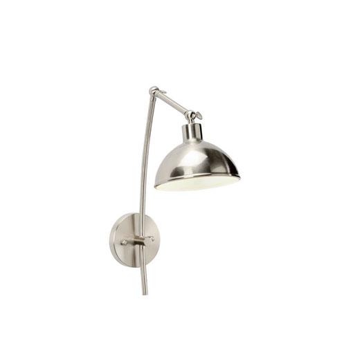 Silver One-Light 7-Inch Mercer Swing Arm