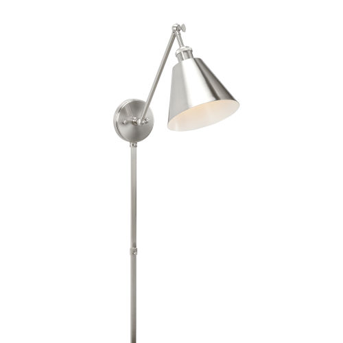 Silver One-Light 8-Inch Whitby Swing Arm