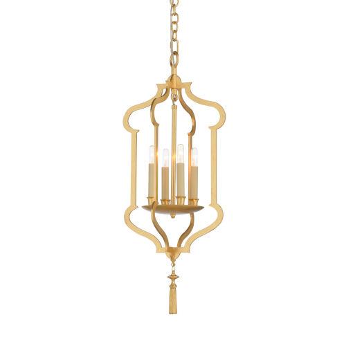 Gold Four-Light 13-Inch Odaslisque Lantern