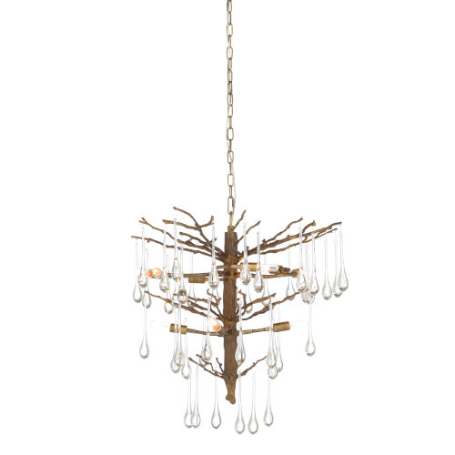 Gold 10-Light 24-Inch March Chandelier