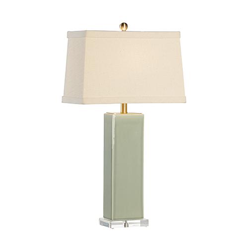 Green One-Light Becker Vase Lamp
