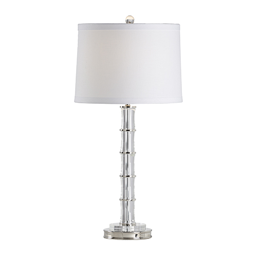 Nickel One-Light Bamboo Lamp