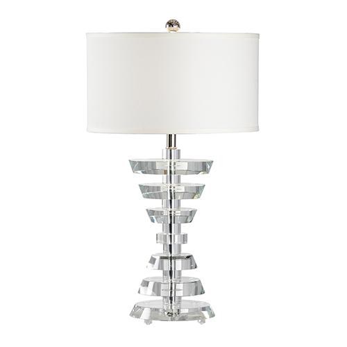 Nickel One-Light Abbey Lamp