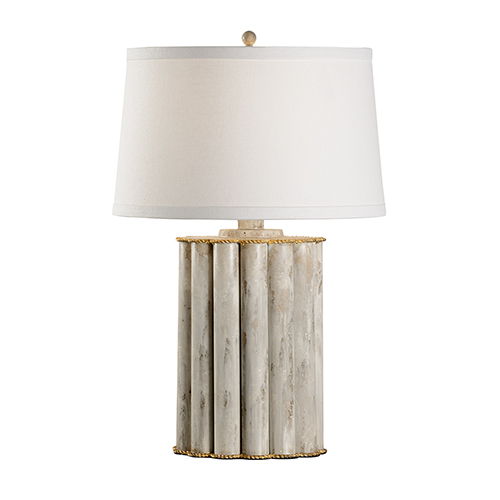 Bradshaw Orrell Gray and Gold One-Light Reidsville Lamp