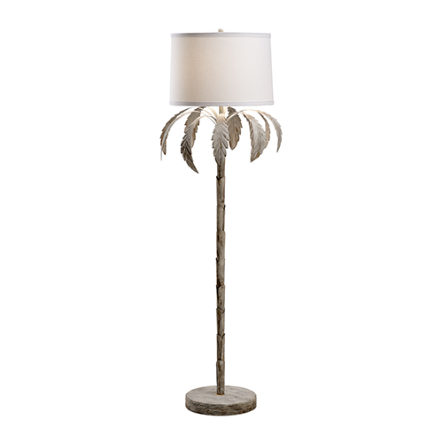 Bradshaw Orrell White Wash One-Light Palm Floor Lamp