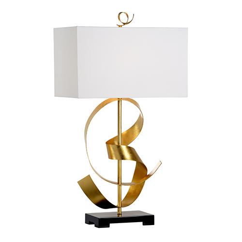 Gold One-Light Ribbon Twirl Table Lamp