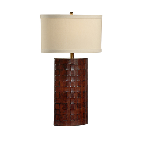 Mahogany One-Light Tucson Lamp