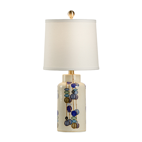 Multi-colored One-Light Small Kobe Vase Lamp