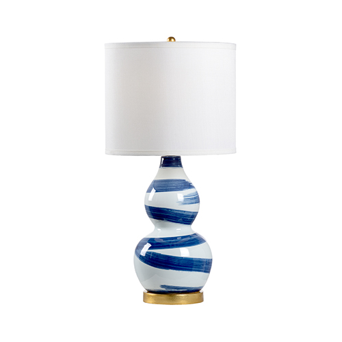 Blue and White One-Light Essex Lamp
