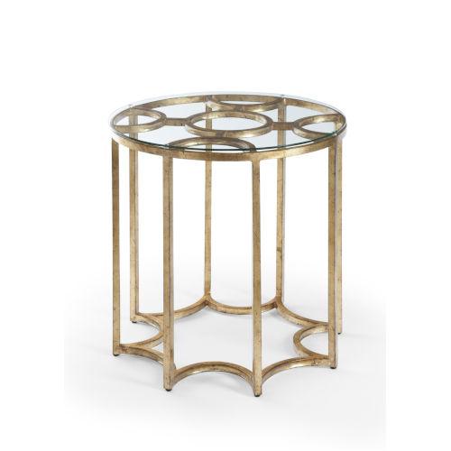Lisette Antique Gold Side table