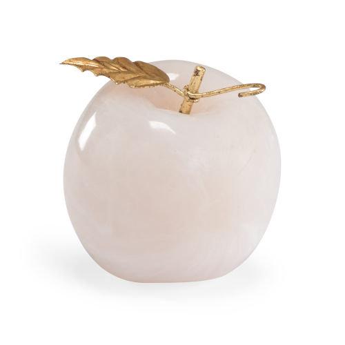 White and Gold Apple Decorative Object
