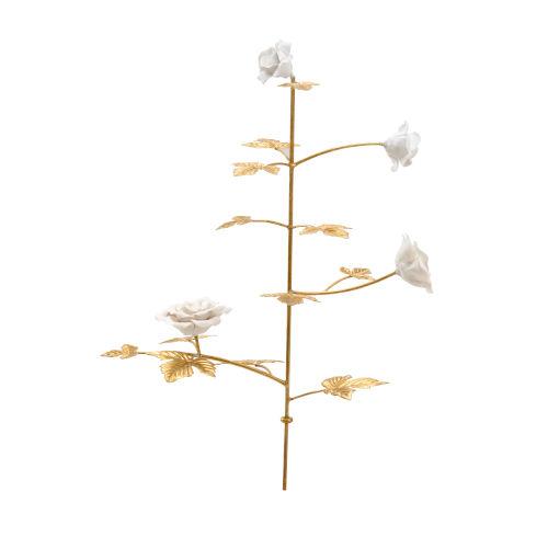 Gold and White Medium Rose Stem