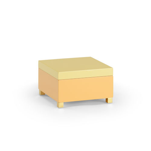 Peach and Yellow Decorative Box