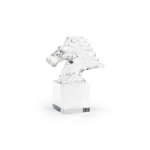 Clear 10-Inch Crystal Horse Figurine