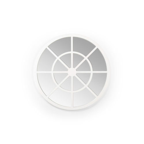 Charlotte White Round Wall Mirror