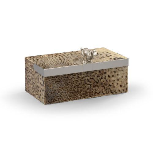 Duke Natural and Silver Decorative Box