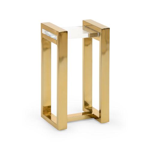 Burge Polished Brass Side Table