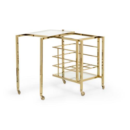 Rankin Polished Brass Bar Cart