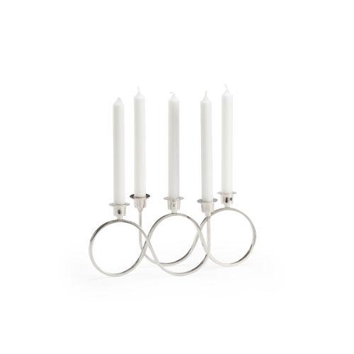 Windsor Polished Nickel Candle Holder