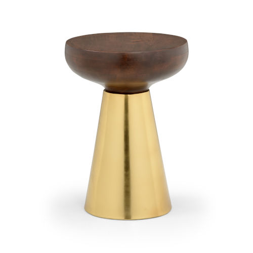Brown And Brass Mushroom Stool