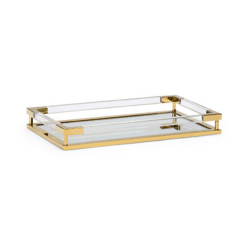 Antique Brass 20-Inch Tray