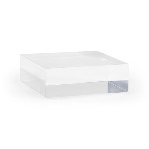 Clear Large Square Plinth