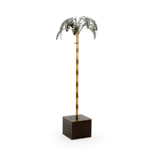 Naples Brass 32-Inch Palm Tree