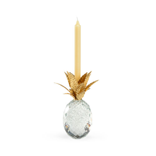 Gold 10-Inch Crystal Pineapple