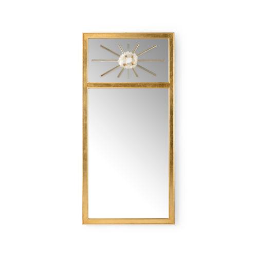 Trumeau Antique Gold Wall Mirror