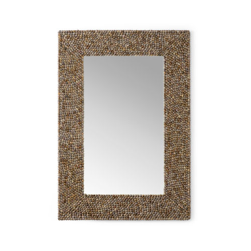 Dark Brown Shell Wall Mirror