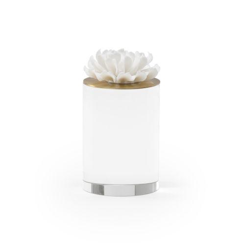 White Four-Inch Succulent Sculpture