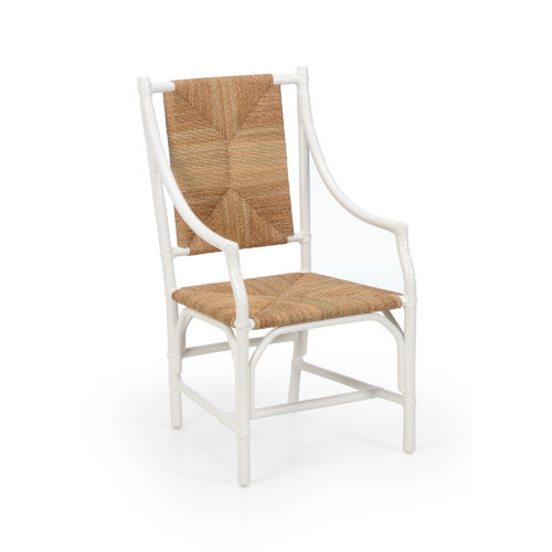 Mecklenburg White and Natural Arm Chair