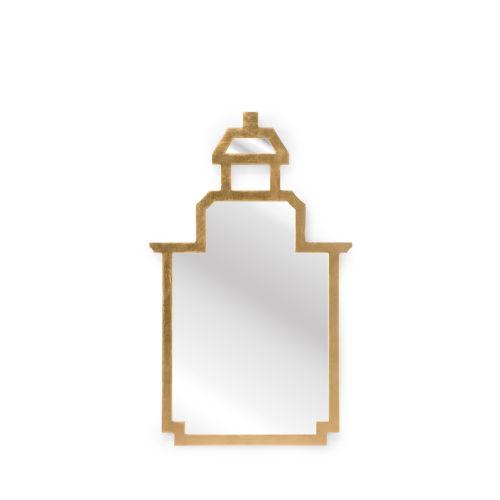 Antique Gold Small Pagoda Wall Mirror